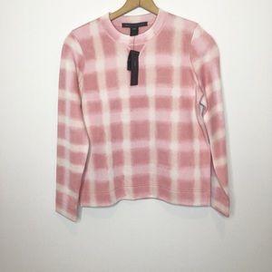 NWT MARC by Marc Jacobs pink plaid sweatshirt top